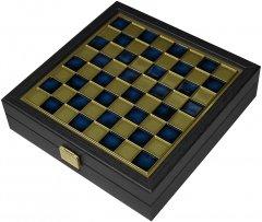Шахматы дорожные Manopoulos Византийская империя деревянный футляр 20х20 см 1 кг (SK1CBLU)