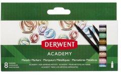 Набор цветных металлических маркеров Derwent Academy Metallic Markers 8 штук (98212)