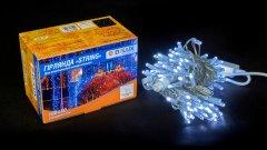 Светодиодная гирлянда DELUX STRING 100LED 10 м flash Белый/Прозрачный IP44 (90015187)