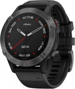 Спортивные часы Garmin Fenix 6 Sapphire Carbon Gray DLC with Black Band (010-02158-11)