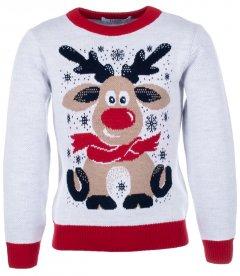 Джемпер Flash Різдво 19BG133-6-3900 134 см NY Білий (2200000248145)