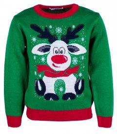 Джемпер Flash Різдво 19BG133-6-3900 134 см NY Зелений (2200000248343)