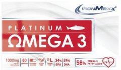 Жирные кислоты IronMaxx Platinum Omega 3 60 капсул (4260196295727)