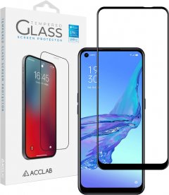 Защитное стекло ACCLAB Full Glue для OPPO A53 Black (1283126508370)
