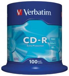 Verbatim CD-R 700 MB 52x Extra Cake Box 100 шт (43411)