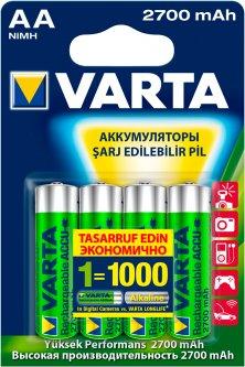 Аккумулятор универсальный Varta Prof. Accu AA 2700mAh BLI 4 NI-MH (05706301404)