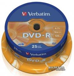 Verbatim DVD-R 4,7 GB 16x Cake 25 шт (43522)