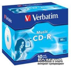 Verbatim CD-R 700 MB Audio Live it Jewel 10 шт (43365)