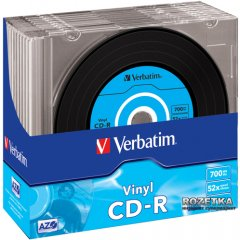 Verbatim CD-R 700MB 52х Slim 10 штук (43426)