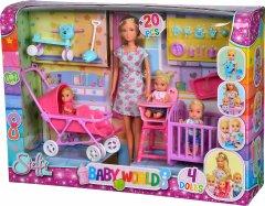 Кукольный набор Штеффи с детьми и аксессуарами Simba (5736350)