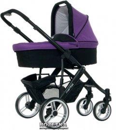 Универсальная коляска 2 в 1 ABC Design Mamba черный с фиолетовым (61028/208)