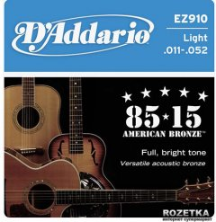 DAddario EZ910 Bronze 85/15 Light (11-52)