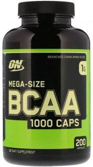 Аминокислота Optimum Nutrition BCAA 1000 200 капсул (748927020373)