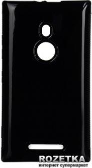 Панель Drobak Elastic PU для Nokia Lumia 925 Black (216376)