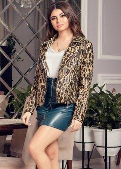Куртка G&M k-51486 46 Розмір колір леопардовий
