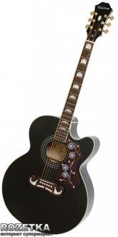 Гитара электроакустическая Epiphone EJ-200CE (A002050) BLACK GLD