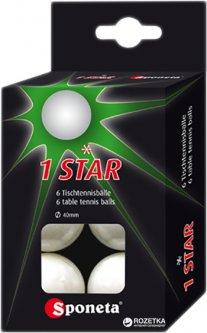 Мячи для настольного тенниса Sponeta 1 star 6 шт