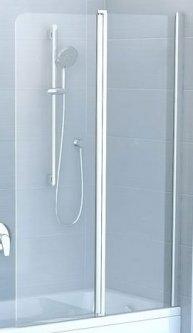 Шторка для ванны RAVAK CVS2-100 Transp 7QRA0U00Z1 satin правосторонняя