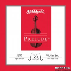 Струны D'Addario J810 4/4L Prelude Light Tension