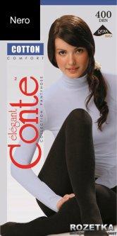Колготки Conte из хлопка Cotton 400 Den 3 р Nero -4811473020398