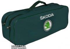 Сумка-органайзер в багажник с логотипами Skoda зеленый размер 50 х 18 х 18 см (03-030-2Д)