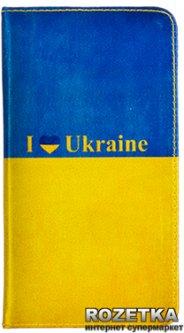 """Универсальный чехол-книжка Drobak Ukrainian 4.7"""" Blue-Yellow (215343)"""