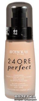 Тональная основа Deborah 24Ore длительного действия 01 Fair (8009518112719)