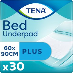 Одноразовые пеленки впитывающие Tena Bed Plus 60x90 см 30 шт (7322540800760)