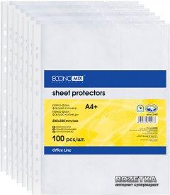Файл-карман Economix А4+ 30 мкм матовый Прозрачный 100 шт (Е31106-50)