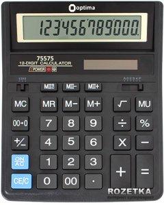 Калькулятор электронный Optima 12-разрядный (75575)