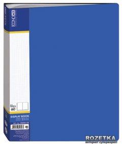 Папка пластиковая Economix А4 60 файлов Синяя (30606-02)