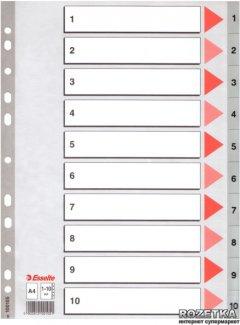 Пластиковые цифровые разделители Esselte А4 1-10 (100105)