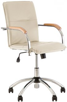 Кресло Новый Стиль Samba GTP Молочное (Samba GTP V-18 1.007)