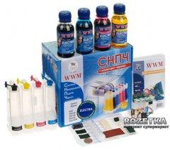Система НПЧ WWM Epson Stylus SX125/SX130/SX230/235W c чипами + чернила Electra (4x100 г) (IS.0260)