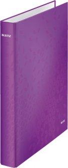 Папка-регистратор Leitz WOW А4 25 мм 2 кольца Фиолетовая (42410062)