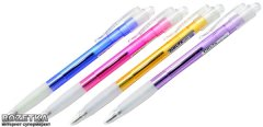Набор шариковых ручек 12 шт автоматических Delta by Axent DB2024 Синих 0.7 мм Разноцветный корпус (DB2024-02)