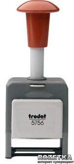 Нумератор автоматический Trodat 5756 5.5 мм 6 символов Красный корпус (5756/р)