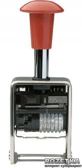 Нумератор автоматический Trodat 5756 5.5 мм 6 символов Красный корпус (5756/м)