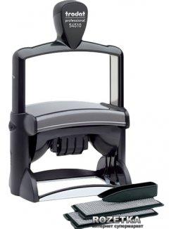 Датер самонаборный Trodat Professional 54510 8 строк 85x55 мм Укр+Рус Черный корпус (54510/8/ укр)