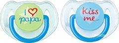 Пустышка Philips AVENT Classic I love 6-18 мес 2 шт (SCF172/70_blue/green)