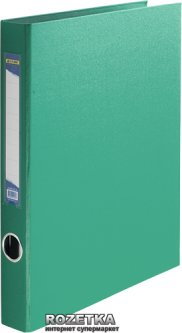 Папка-регистратор Buromax А4 35 мм 2-D кольца PP Зеленая (BM.3101-04)