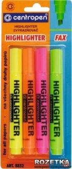Набор текстовых маркеров 4 шт Centropen 1 - 4.6 мм Цветные (8852/4/BL)