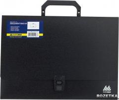 Портфель пластиковый Buromax Jobmax A4/35 мм на 1 отделение Черный (BM.3724-01)