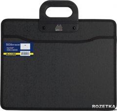 Портфель пластиковый Buromax Job на молнии В4 на 2 отделения Черный (BM.3733-01)