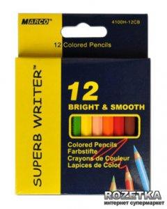 Карандаши цветные Marco Superb Writer короткие 12 цветов (4100H-12CB)