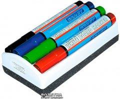 Набор маркеров Granit 4 шт + губка для сухостираемых досок 460 2-3 мм (gr.M460/04/Wiper)
