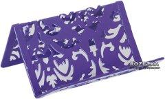 Металлическая подставка для визиток Buromax Barocco Фиолетовая (BM.6226-07)