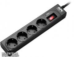 Сетевой фильтр APC Essential SurgeArrest 4 outlets Black (P43B-RS)