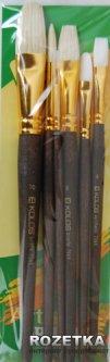 Набор кистей из синтетики, щетины и колонка KOLOS 7068 6 шт (4823064903423)