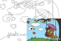 Холст Rosa Start Мультфильм №25 на картоне с контуром 20 х 30 см (4820149891965)